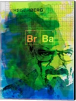 Framed Walter White Watercolor 2