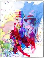 Framed Casablanca Watercolor