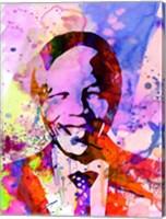 Framed Nelson Mandela Watercolor