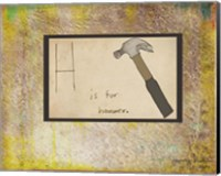 Framed H is For Hammer