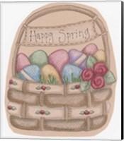 Framed Happy Spring Basket