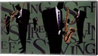 Framed Swing Street Horns