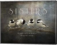Framed Sisters Chickadees