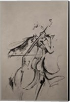 Framed Cellist Sketch