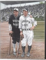 Framed Babe Ruth and Lou Gehrig