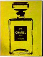Framed Chanel Pop Art Yellow Chic