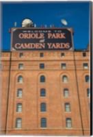 Framed Oriole Park at Camden Yards, Baltimore, Maryland