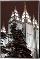 Framed Mormon Temple, Salt Lake City, Utah