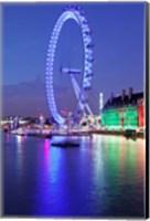 Framed Millennium Wheel, London County Hall, Thames River, London, England