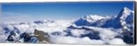 Framed Swiss Alps, Switzerland (close-up)