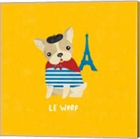 Framed Good Dogs French Bulldog Bright