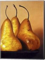 Framed Three Pears on Stonehenge