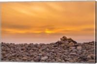 Framed Endless Rock Sunset