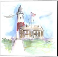 Framed Montauk Lighthouse