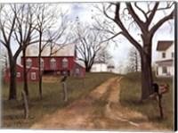 Framed Old Dirt Road