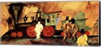 Framed Old Locomotive