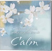 Framed Blue Floral Inspiration IV