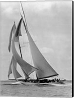 Framed Schooner Half Moon at Sail, 1910s
