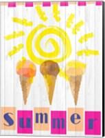 Framed Summer Ice Cream Cones
