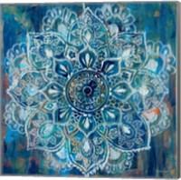 Framed Mandala in Blue II