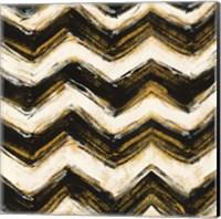 Framed Black and Gold Geometric IV Crop