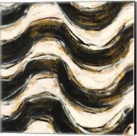 Framed Black and Gold Geometric V Crop