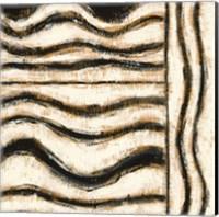Framed Black and Gold Geometric VI