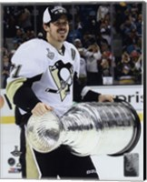 Framed Evgeni Malkin with the Stanley Cup Game 6 of the 2016 Stanley Cup Finals