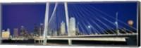 Framed Margaret Hunt Hill Bridge, Dallas, Texas