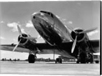 Framed 1940s Passenger Airplane