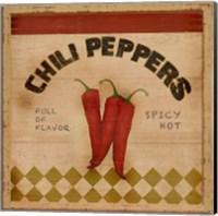 Framed Chili Peppers