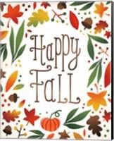 Framed Harvest Time Happy Fall