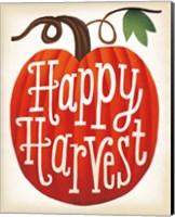Framed Harvest Time Happy Harvest Pumpkins