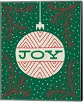 Framed Jolly Holiday Ornaments Joy