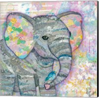 Framed Sweet Baby Elephant I