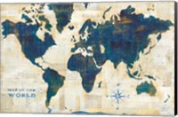 Framed World Map Collage