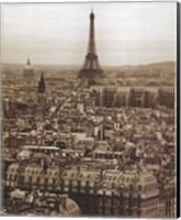 Framed Paris Below