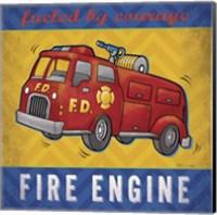 Framed Fire Engine