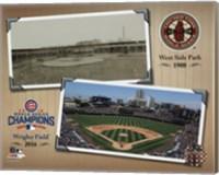 Framed West Side Park / Wrigley Field Composite