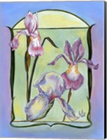 Framed Art Deco Irises