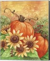 Framed Sunflowers Autumn