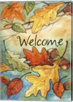 Framed Welcome Leaves