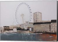 Framed Ferris Wheel Landscape