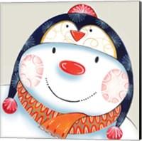 Framed Penguin Snowman