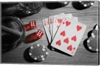 Framed Pop of Color Poker