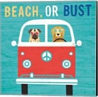 Framed Beach Bums Bus