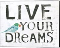 Framed Live Your Dreams
