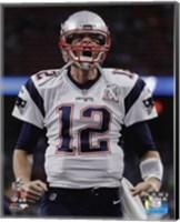 Framed Tom Brady Super Bowl LI 2017