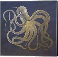 Framed Golden Octopus