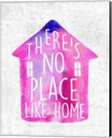 Framed There's No Place Like Home-Watercolor